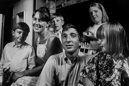 Updike with Family